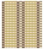 Textura sem emenda do vetor da cortina de bambu ou da esteira de tabela cobrida com sapê Fotografia de Stock Royalty Free