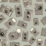 Textura sem emenda do vetor de câmeras diferentes Foto de Stock