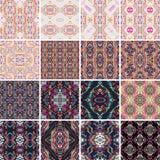 Textura sem emenda do vetor Grupo de testes padrões coloridos tribais para o projeto Eletro tendência da cor do boho Estilo decor Imagem de Stock