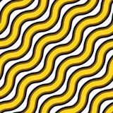 Textura sem emenda do vetor Repetindo o teste padrão do ouro ondulado e de linhas pretas ilustração royalty free