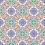 Textura sem emenda do vetor Teste padrão colorido bonito para o projeto e forma com elementos decorativos Fotos de Stock Royalty Free