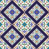 Textura sem emenda do vetor Teste padrão colorido bonito para o projeto e forma com elementos decorativos Imagens de Stock