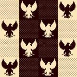 Textura sem emenda do vintage de Eagle Fotografia de Stock
