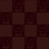 Textura sem emenda do vintage de Eagle Imagens de Stock Royalty Free