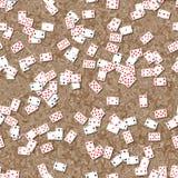 Textura sem emenda dos cartões de jogo na tabela ilustração stock