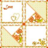 Textura sem emenda dos corações e das flores do teste padrão dos retalhos Imagens de Stock Royalty Free