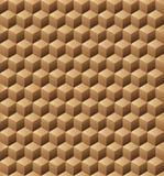 Textura sem emenda dos cubos de madeira Fotografia de Stock