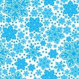 Textura sem emenda dos flocos de neve no projeto do vetor Fotografia de Stock Royalty Free