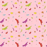 Textura sem emenda em um fundo cor-de-rosa ilustração do vetor