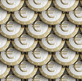 Textura sem emenda feita de euro- moedas douradas Fotos de Stock Royalty Free