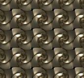 Textura sem emenda feita de twirls dourados Foto de Stock Royalty Free