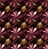 Textura sem emenda feita estrelas twirled douradas/vermelhas Fotografia de Stock Royalty Free