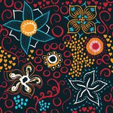 Textura sem emenda floral ilustração royalty free