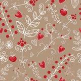 Textura sem emenda floral ornamentado Fotos de Stock Royalty Free