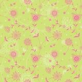 Textura sem emenda floral ornamentado no estilo retro. Fotografia de Stock Royalty Free