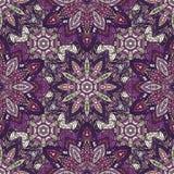 Textura sem emenda floral ornamentado, teste padrão infinito com elementos da mandala do vintage Imagens de Stock