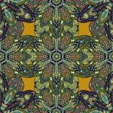 Textura sem emenda floral ornamentado, teste padrão infinito com elementos da mandala do vintage Foto de Stock