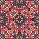 Textura sem emenda floral ornamentado, teste padrão infinito com elementos da mandala do vintage Fotografia de Stock