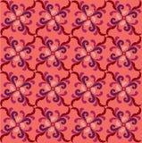 Textura sem emenda geométrica floral cor-de-rosa e vermelha abstrata ilustração do vetor