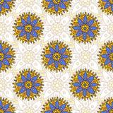 Textura sem emenda indiana do teste padrão Pode ser usado para a tela da forma, matéria têxtil, envolver Fotos de Stock Royalty Free