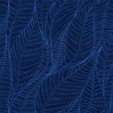 Textura sem emenda linear com base nas folhas abstratas Imagens de Stock Royalty Free