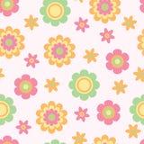Textura sem emenda para bebês, vetor da flor Ideal para a tela, papel de parede no berçário, a superfície de revestimento, decora ilustração do vetor