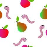 Textura sem emenda que consiste em um sem-fim e em um fruto Fotografia de Stock Royalty Free