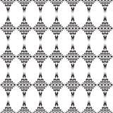 Textura sem emenda, teste padrão infinito do mosaico preto Fotos de Stock Royalty Free