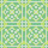 Textura sem emenda verde da hortelã Fotografia de Stock