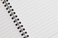 Textura simple del cuaderno Fotos de archivo libres de regalías