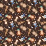 Textura sonriente del mono del vector Imagenes de archivo