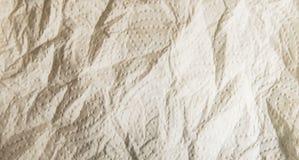 Textura suave desmenuzada del papel de la cocina con el modelo punteado Fotografía de archivo libre de regalías