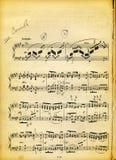 Textura sucia de la hoja y del papel de música de la vendimia Imagenes de archivo