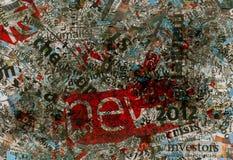 Textura suja da cópia do fundo do jornal Fotografia de Stock