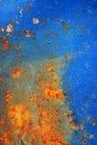 Textura superficial oxidada azul Foto de archivo libre de regalías