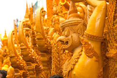 Textura tailandesa da escultura da arte da vela. Fotos de Stock Royalty Free