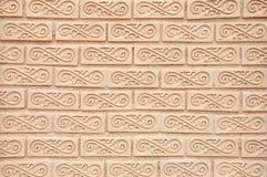 Textura tailandesa da parede de tijolo da arte do estilo Imagem de Stock Royalty Free