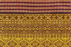 Textura tailandesa da tela Imagens de Stock