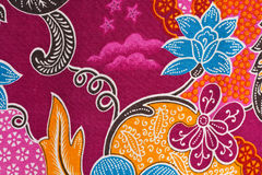 Textura tailandesa de la tela Fotografía de archivo libre de regalías