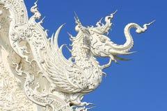Textura tailandesa del dragón Fotografía de archivo
