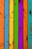 Textura - tarjetas de madera coloreadas Foto de archivo libre de regalías