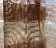 Textura tecida branca de Brown Fotos de Stock Royalty Free