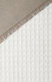 Textura tejida de la arpillera y del algodón Foto de archivo libre de regalías
