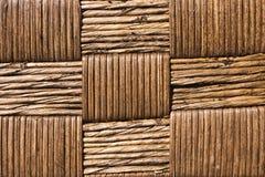 Textura tejida mano de la cesta Fotografía de archivo