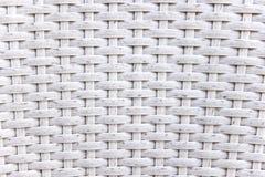 Textura tejida mimbre blanco Imagenes de archivo
