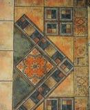 A textura telhou o assoalho em um estilo do mosaico Imagem de Stock