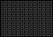Textura Teste padrão em um fundo preto Fotografia de Stock Royalty Free