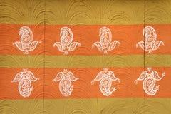 Textura/teste padrão indianos feitos a mão abstratos do projeto da parede foto de stock