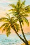 Textura, teste padrão, lona pintada nos óleos Tirado na imagem S Imagens de Stock Royalty Free
