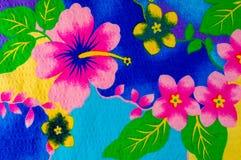 Textura, teste padrão Pano com testes padrões modelados de cores brilhantes Foto de Stock Royalty Free